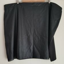 Ladies size 26 Black Stretch Mesh Pleather Skirt - edited plus
