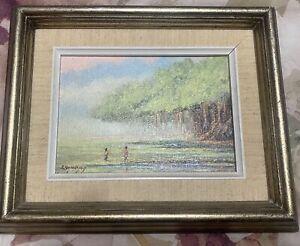"""Earl Shimokawa painting """"Banyan Tree"""" Hawaii 1986"""