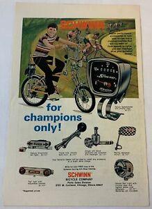 1973 Schwinn STING-RAY accessories ad page ~ speedometer, horn, mirror, etc