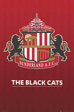 SUNDERLAND AFC THE BLACK CATS Official EPL Soccer Team Crest Logo POSTER