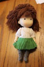 "Beautiful Vintage 1990 Joann Walsh Doll 6""  yarn hair doll house sized"