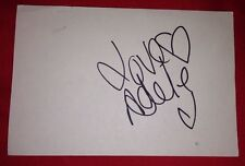ADELE SILVA SIGNED 6X4 WHITE CARD TV AUTOGRAPH EMMERDALE 100% GENUINE