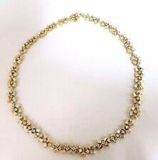15.00ct diamonds baguette & rounds eternity riviera necklace 18kt