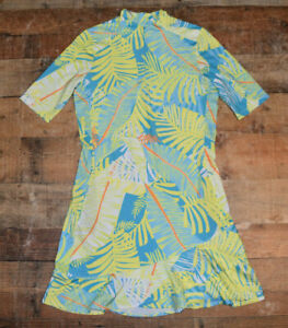 NEW $89 Tail Activewear Reselda UV Protection Golf Dress Neotropical Print Small