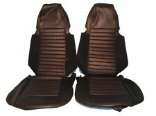 Black Vinyl Seat Cover Upholstery Kit for Triumph TR6 1970-1972 Made in UK