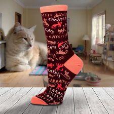 Cats! Ladies Socks - Size 5-10 Women Shoe Foot Fun Cat Lover Pink Maroon Funny C