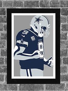 Dallas Cowboys Tony Romo Portrait Sports Print Art 11x17