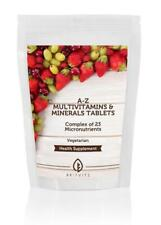 A-Z Multivitamins and Minerals 30-60-90-120-180-250-500-1000 Tablets UK