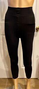 Hanes Black Leg Boost Cellulite Smoothing Footless Compression Tights Size Small
