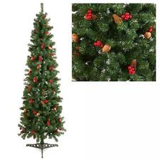 1.8 METRI IN ABETE PINO albero di Natale Con Coni & Frutti di Bosco tr600bc