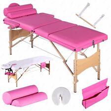 "3 Fold Portable 84""L Massage Table Facial SPA Bed 2 Pillows+Cradle+Sheet&Hanger"