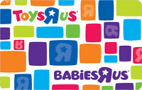 $10 / $20 / $25 / $50 / $100 Toys R Us Gift Card - Mail Delivery