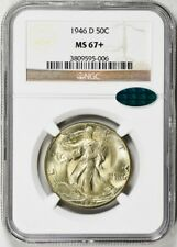 1946-D WALKING LIBERTY HALF DOLLAR 50C NGC & CAC MS67+, POP (4/0), PG = $9,000!