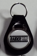 Reproduction Vintage Raider Twin Track Snowmobile  Leather Keychain