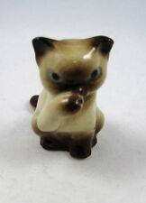 Hagen Renaker miniature made in America Siamese Mama Cat sucking thumb retired
