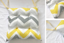 Seat Pad Dining Room Garden Kitchen Chair Cushions Tie On With Chevron Design
