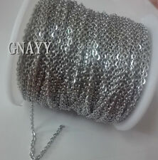 GNAYY 10meter Wholesale stainless steel joint Link Chain Jewelry Finding 2.3mm