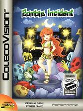 ZOMBIE INCIDENT for Colecovision / ADAM Cart. NEW / CIB, SUPER GAME MODULE REQ'D