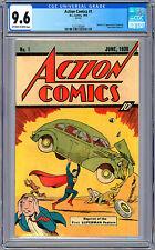 ACTION COMICS #1 CGC 9.6 *FIRST SUPERMAN* RARE 10-CENT SLEEPING BAG REPRINT 1976