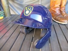 New listing Milwaukee Brewers Rawlings Authentic Batting Safety Helmet with Chin Guard, 7 ¼
