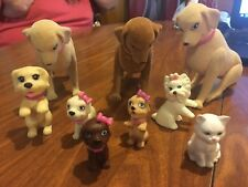 Lot Of 9 Barbie Dogs And Cats, 6 Bobble Heads, 3 Regular