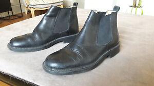 boots chelsea homme noir t 41,5