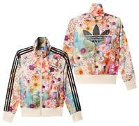 New Rare Adidas Firebird Hoodie Floral Jacket Multicolor Vintage Womens AJ8151