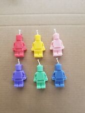 Lego figure birthday candle/cake topper handemade x 10