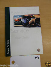MGF Assistance Service Warranty  Book as Pictured  book A4