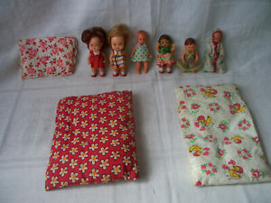 DDR Spielzeug  Ari 6 Puppen und Bettdecken für Puppenstube