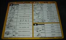 Inspektionsblatt Toyota Corolla Diesel FR CE 70 CE 80 Werkstatt Service 08/1983!