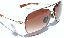 NEW* Under Armour DOUBLE DOWN GOLD 62mm Aviator w Brown Gradient Lens Sunglass