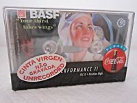 CASSETTE TAPE BLANK SEALED - 1x (one) BASF COCA COLA 90 [1995-97] - RARE