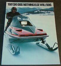 VINTAGE 1981 SKI-DOO FULL LINE SNOWMOBILE SALES BROCHURE 16 PAGES (037)