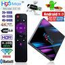 H96 Max Smart TV Box Android 9.0 RK3318 Quad Core 64 Bit UHD 4K VP9 4+64GB H.265