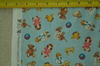 """By 1/2 Yd"""", Old Fashion Toys Print on Blue Cotton/Quilting Treasures/Pease,M6408"""