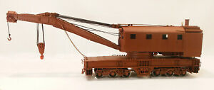 O 2RAIL BRASS WEST SIDE MODELS BALTIMORE & OHIO/OTHERS 200T WRECK CRANE PAINTEDb