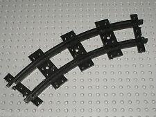 Rail noir LEGO TRAIN curved black track 85976 / Set 6857 & 7065 ....