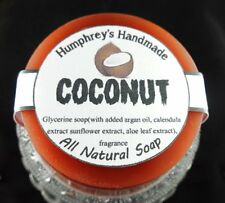 Men's COCONUT soap, Glycerin Unisex Brown Shave & Shampoo, Argan Oil Tropical