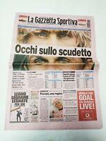 GAZZETTA DELLO SPORT 14 MARZO 2004 SCI GABRIELLA PARUZZI VINCE COPPA DEL MONDO