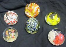 12 Vintage Art Glass Various Sizes & Colours Paperweights