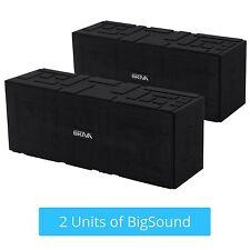 2x Skiva BigSound Ultra Loud 15W Portable Wireless Bluetooth Speaker (SP102)