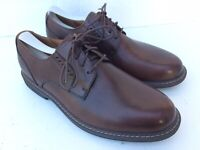Clarks Unstructured Oxfords Men's Size 9 W Brown Leather Lace-Up Comfort Shoes