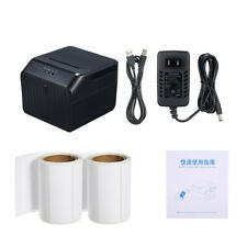 Mini BT 58mm Thermal Label Barcode Sticker Printer Portable USB Cash Box Cable