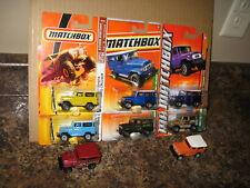 Matchbox Lot of 8 1968 Toyota Land Cruiser FJ40 Variation '68 Yellow Orange Bear
