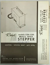 JUKEBOX MANUAL ROWE AMI MODEL CDA-CDD WALL BOX STEPPER INSTALL INSTRUCT PARTS