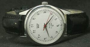 Vintage Men's HMT Janata Hand-Winding 17 Jewels Wrist Watch Excellent Condition