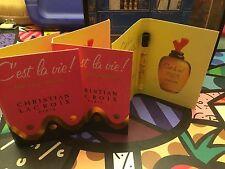3 C'est la vie! CHRISTIAN LACROIX,EDT,Samples,2 ml each,made in France,VINTAGE!