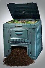 Compost Bin Large 120 Gallon Water Reisistant Leaf Collector Recycled Resin Yard