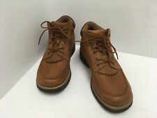 Twisted X Men's' Chuck Up Brown Leather 6 Eyelet Shoe Boot 11 1/2 D MCU0001 VGUC